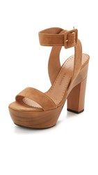 Alexa Wagner Red Cape Sandals Tobacco