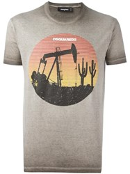 Dsquared2 Oil Field T Shirt Nude Neutrals