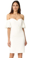 Badgley Mischka Collection Off Shoulder Bell Sleeve Dress Ivory