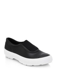 Hunter Rubber Slip On Sneakers Black