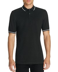 Fred Perry Twin Tipped Polo Slim Fit Hunting Green Black Oxford White