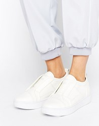 G Star Scuba White Leather Slip On Trainers White Leather