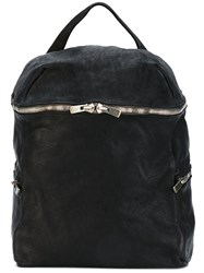 Guidi Side Zip Backpack Unisex Horse Leather One Size Black