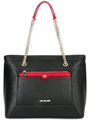 Love Moschino Chain Strap Tote Black