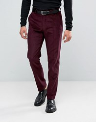 Asos Slim Suit Trousers In Purple Cord Purple