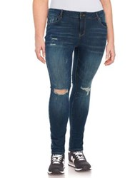 William Rast Plus Ripped Skinny Jeans Frontier
