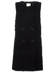 Each X Other Sleeveless Shearling Coat Black