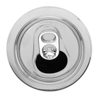 Raf Simons Silver Clear Can Keychain