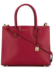 Michael Michael Kors Removable Strap Tote Red