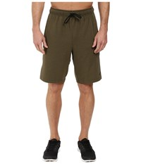Nike Dri Fit Fleece Training 8 Short Cargo Khaki Black Men's Shorts Green