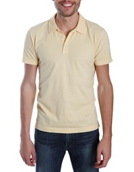 Lucky Brand Solid Polo Reed Yellow