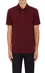Barneys New York Men's Cotton Pique Polo Shirt Pink