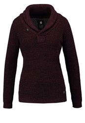 G Star Gstar Tiffly Shawl Collar Jumper Dark Black Maroon Bordeaux