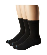 Drymax Sport Performance Casual Crew 3 Pair Black Crew Cut Socks Shoes