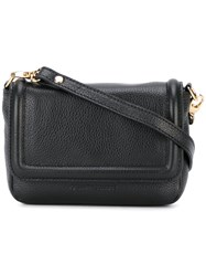 L'autre Chose Flap Closure Crossbody Bag Black