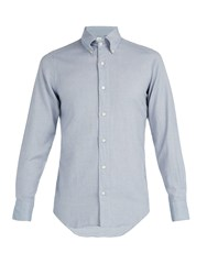 Finamore Cotton Flannel Shirt Grey