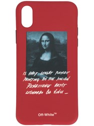 Off White Mona Iphone X Cover Red