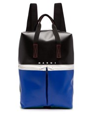 Marni Colour Block Panelled Backpack Black Multi