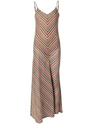 Y Project Gathered Leg Striped Dress Pink