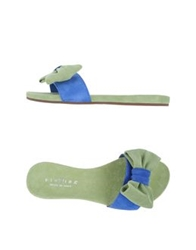 Fiorina Clog Sandals Light Green