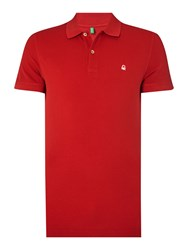 United Colors Of Benetton Logo Polo Regular Fit Polo Shirt True Red