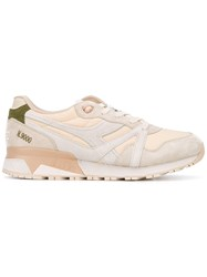 Diadora Lace Up Sneakers Men Suede Polyamide Polyester Rubber 8 Nude Neutrals
