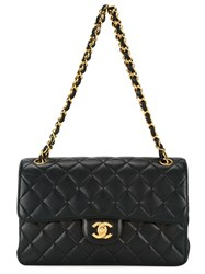 Chanel Vintage Double Flap Shoulder Bag Black