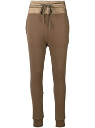 Ann Demeulemeester Track Style Trousers Green