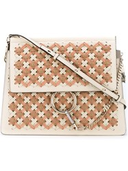 Chloe Faye Shoulder Woven Shoulder Bag Women Leather Suede Plastic Metal One Size Nude Neutrals