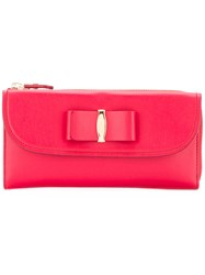 Salvatore Ferragamo Bow Detail Purse Women Leather One Size Red