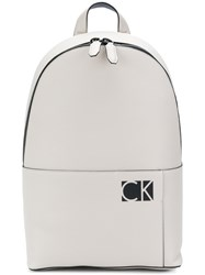 Calvin Klein Jeans Logo Backpack Nude And Neutrals