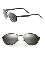 Maui Jim Upcountry Vintage Aviator Sunglasses Matte Black