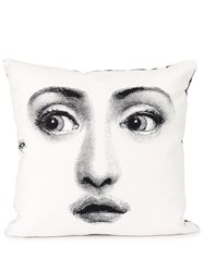 Fornasetti Face Print Pillow Black