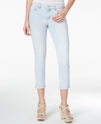Jessica Simpson Forever Cuffed Skinny Ankle Jeans Glacier
