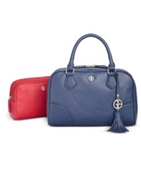 Giani Bernini 2 In 1 Pebble Leather Satchel Only At Macy's Navy
