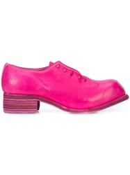 Guidi Wholecut Derby Shoes Pink And Purple