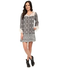 Rock And Roll Cowgirl Long Sleeve Dress D4 5780 Black Women's Dress