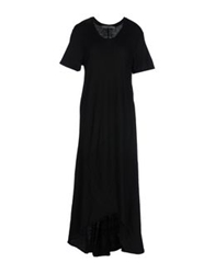 Superfine 3 4 Length Dresses Black