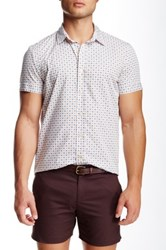Parke And Ronen Biscayne Printed Short Sleeve Slim Fit Shirt Brown