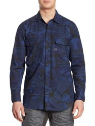 G Star Type C Straight Shirt Imperial Blue