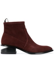 Alexander Wang Kori Stretch Ankle Booties Red