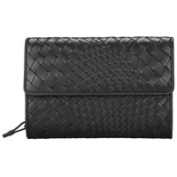 John Lewis Collection Weekend By Rosa Weave Leather Purse Black