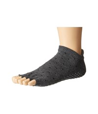 Toesox Low Rise Half Toe 1 Pack Sultry Women's Crew Cut Socks Shoes Black