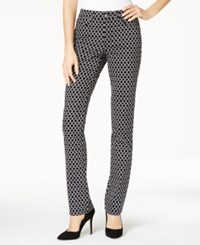 Charter Club Lexington Printed Straight Leg Jeans Only At Macy's Deep Black Combo