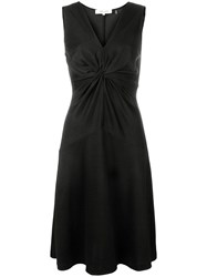 Diane Von Furstenberg Dvf Twisted Knot A Line Dress Black