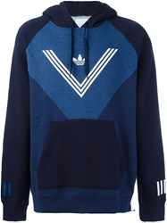 Adidas Originals White Mountaineering Colour Block Hoodie Blue