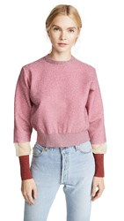 Toga Pulla Lame Knit Pullover Pink