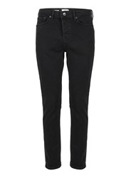 Topman Washed Black Stretch Tapered Fit Jeans