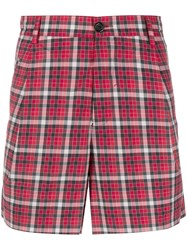 Unconditional Checked Cotton Shorts Red