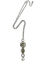 Liase Meteor Rosa Pyrite And Silver Necklace
